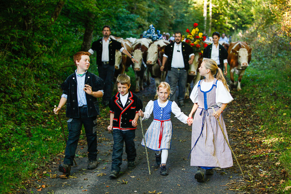 The children lead the procession. © Alexander Belokurov, St Cergue - Switzerland, 2014.