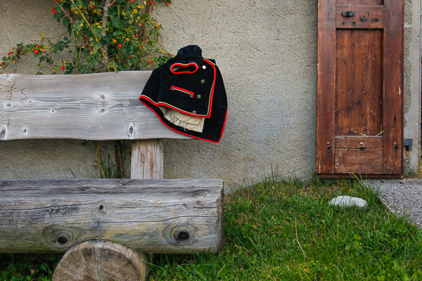Day breaks and a jacket on the seat outside the chalet announces the Desalpe of 2014. © Alexander Belokurov, St Cergue - Switzerland, 2014.